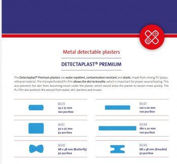 Detectaplast Premium -röntgenkuvissa havaittavat laastarit