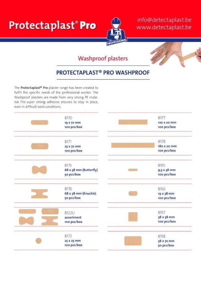Protectaplast Pro Washproof