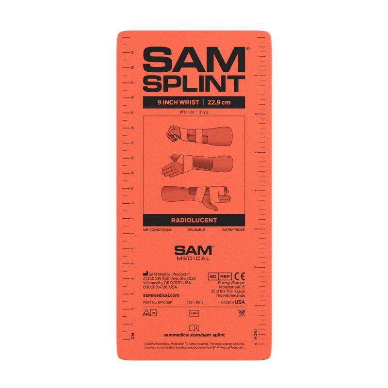 SAM Splint Oranssi / Sininen 9 tuumaa