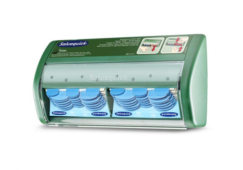 Cederroth Salvequick -laastariautomaatti, sininen muovilaastari