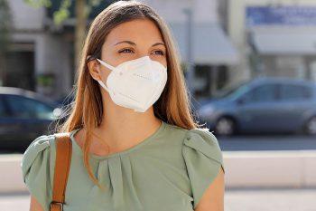 Hengityssuojain ja kasvomaski CE-merkitty ja FFP2-tason suojaus
