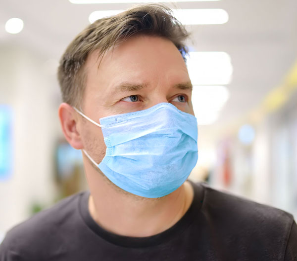 Kirurginen kasvomaski, sininen