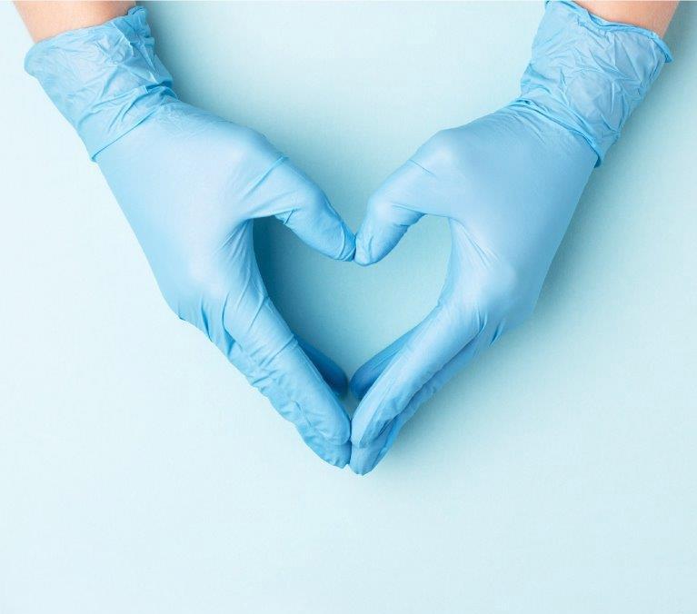Nitriilikäsineet estävät virusten ja bakteerien pääsyn iholle